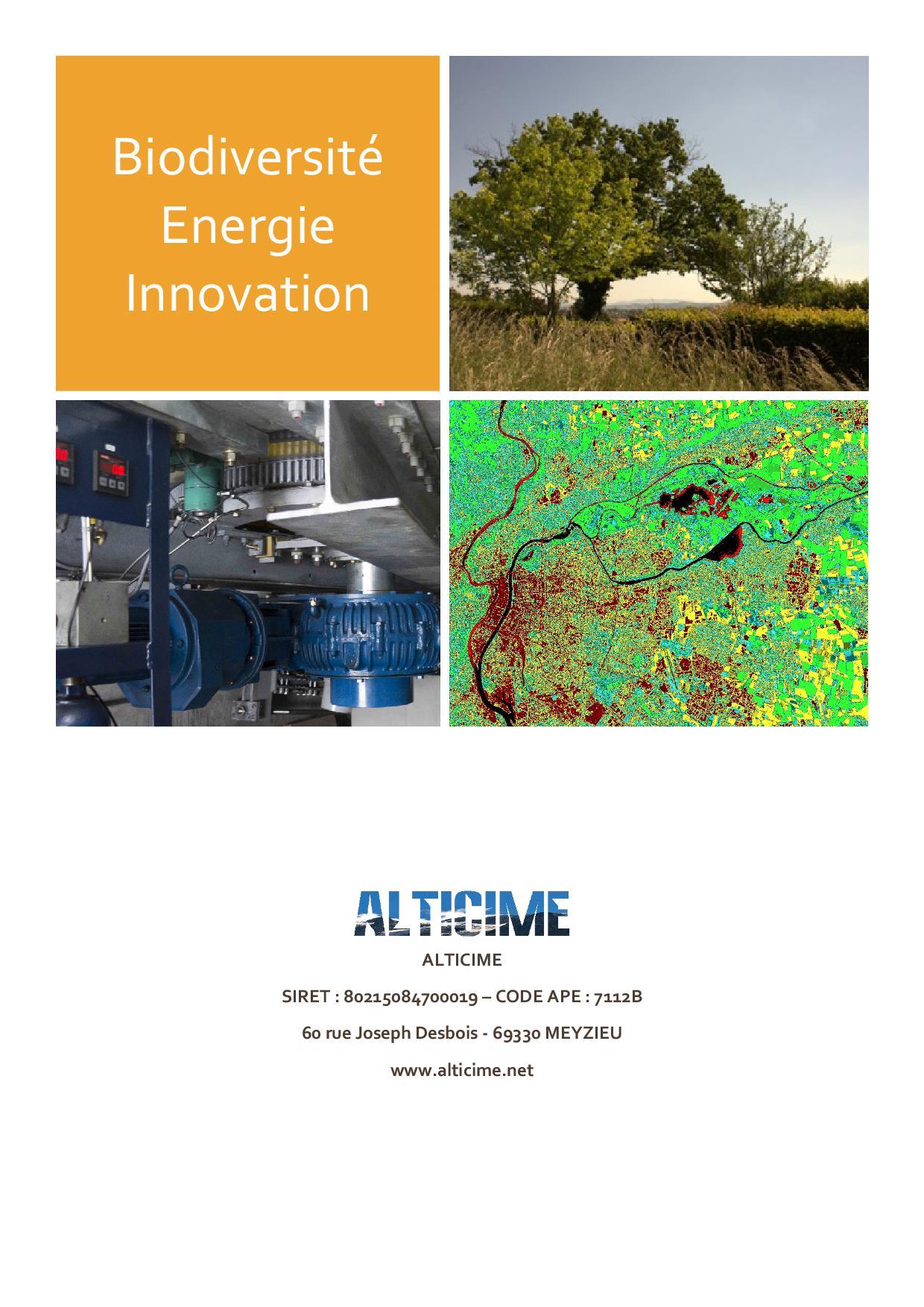 Plaquette Biodiversité Energie Innovation